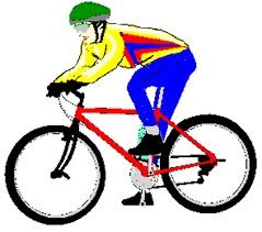 Emoticon man in bike